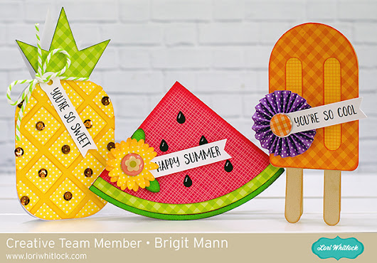 Summer Shaped Cards - Lori Whitlock Creative Team Project