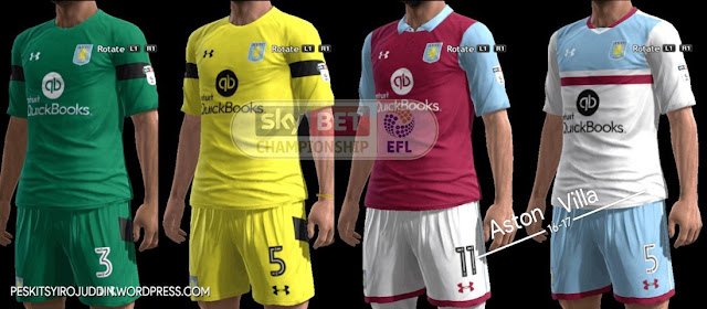 PES 2013 Aston Villa Kit Season 2016-2017