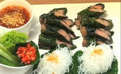 อาหารเวียดนาม, เนื้อย่างใบชะพลู