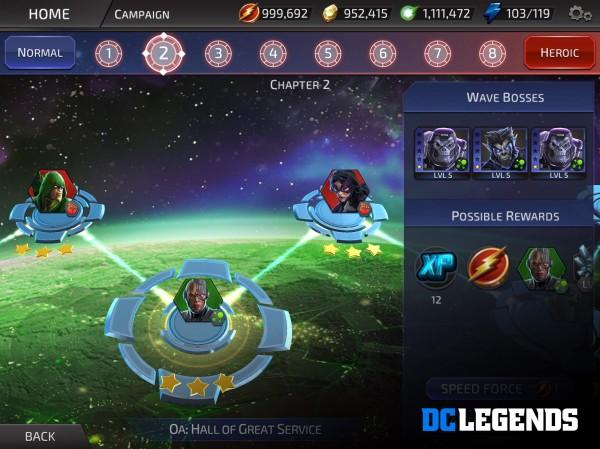 معارك DC Legends