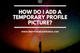 Add a temporary profile picture to facebook?