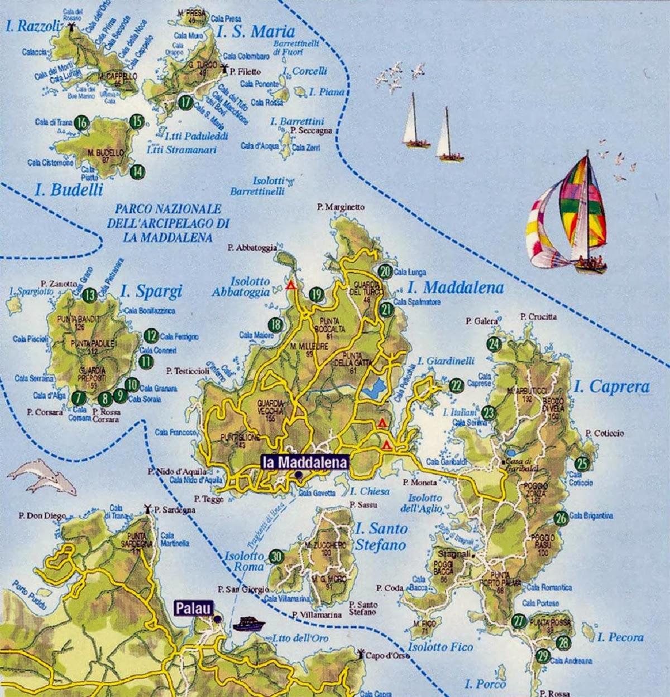 Santo Stefano Sardegna Cartina.Le Isole Della Maddalena Sardegna The Islands Of Sardinia Blog Di Pociopocio
