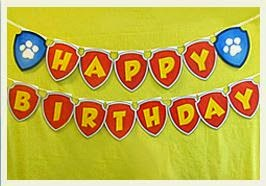 Paw Patrol: Happy Birthday Free Printable Bunting.