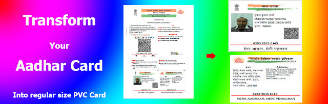 Transform your aadhaar card into SMART AADHAAR Card