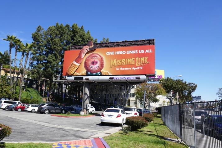 Missing Link moving arm billboard
