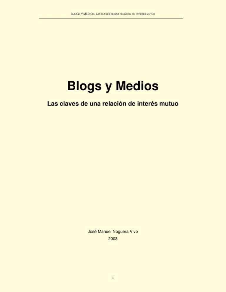Blogs y medios
