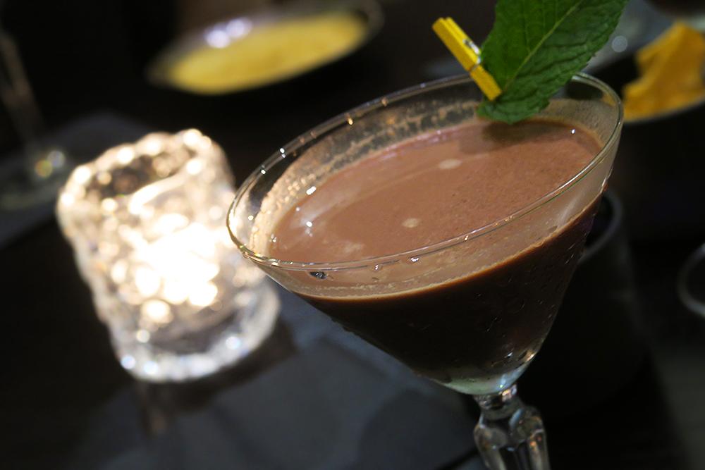 Chocolate Martini for National Chocolate Week at Firelake in Radisson Blu, Leeds