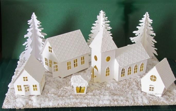 Bastelmaus ist kreativ winter deko - Winterdeko basteln ...