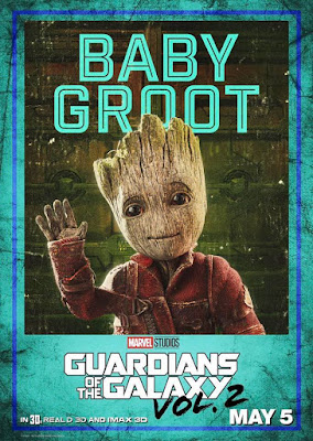 Baby Groot Guardians of the Galaxy Vol 2 character poster
