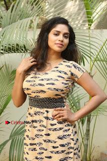 Telugu Actress Karunya Chowdary Stills in Short Dress at ATM Not Working Press Meet  0032.jpg