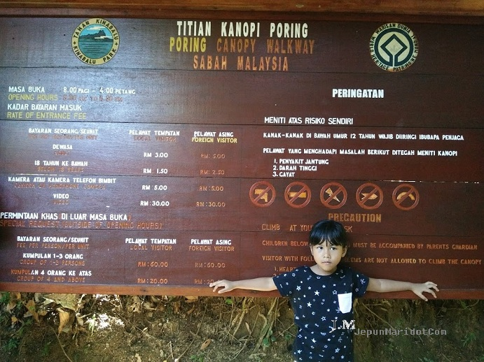 Family trip to KK - Canopy Walkway Poring Hot spring