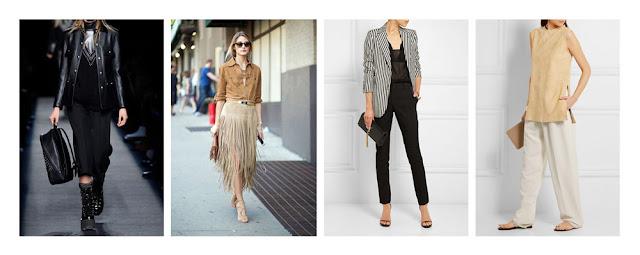 Комплекты одежды в стиле гранж, богемный шик, классика, минимализм