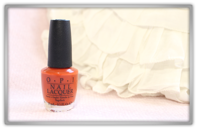 OPI It's a Piazza Cake Venice collection beauty blogger nails nailpolish pumpkin pie fall autumn