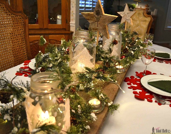 Mason Jar Centerpiece for Christmas - Featured