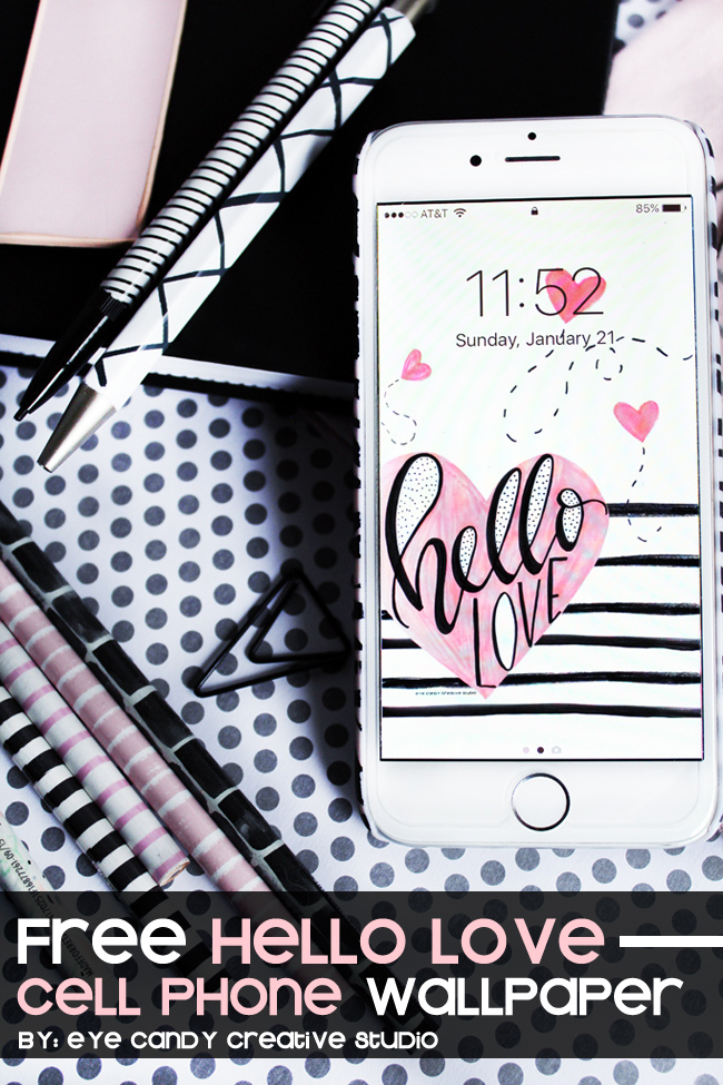Hello Love Valentines Day Free Cell Phone Wallpaper Background