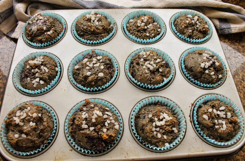 Food Lust People Love: With dates for sweetness, coconut cream for richness and fresh blackberries mixed through, these Blackberry Date Buckwheat Muffins may not be the best looking on the block but they sure are tasty.