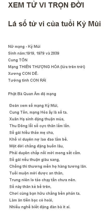 Tu Vi Tron Doi Ky Mui 1979