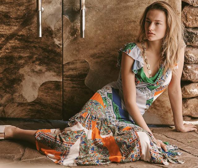 Длинное платье в стиле пэчворк