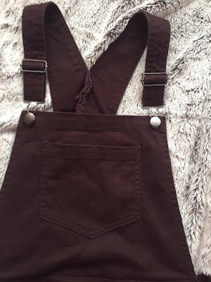 Burgundy dorothy perkins dungaree dress