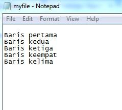menulis isi file text dengan PrintWriter