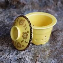 Yellow Ceramic Decorative Mini Vase in Port Harcourt, Nigeria