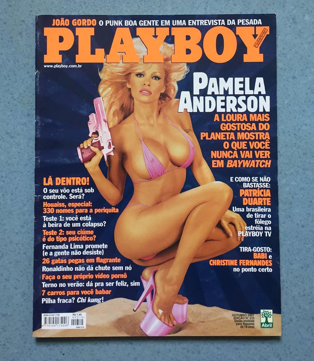 A atriz Pamela Anderson na capa da Playboy brasileira de 2011. Foto: Arquivo Pessoal