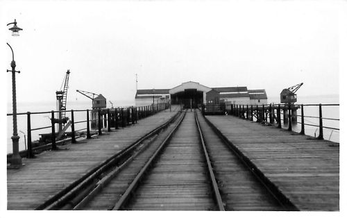 View down the pier