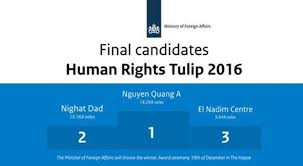 Tin hot: Ông Nguyễn Quang A đã trượt giải nhân quyền Tulip