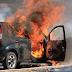 Veículo pega fogo na BR 277 em Cantagalo