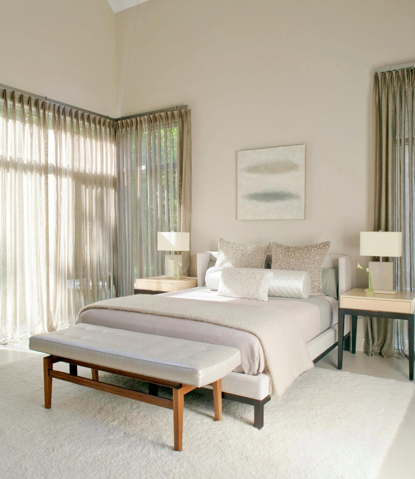 SEE THIS HOUSE: WHITE ON WHITE IN A MODERN HAMPTONS ... on Master Bedroom Curtains  id=52298