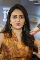 Rakul Preet Singh smiling Beautyin Brown Deep neck Sleeveless Gown at her interview 2.8.17 ~  Exclusive Celebrities Galleries 144.JPG