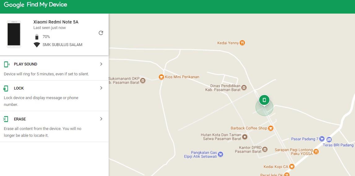 Cara Mencari HP Android Hilang