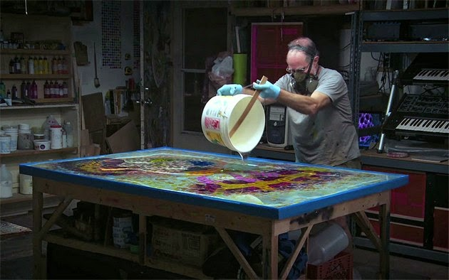 Art of Psychedelic Paint and Poured Resin by Bruce Riley4