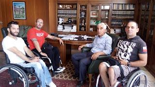 Σωματείο παραπληγικών - κινητικά Αναπήρων ΠΕ Ηλείας: Συνάντηση με το Δήμαρχο Αρχ. Ολυμπίας