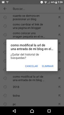 para borrar el historial de búsquedas de tu celular deben dar clic sobre la imagen de perfil de su cuenta luego deben de ir a la opcion configuración luego historial y privacidad y por último seleccionas la opcion borrar el historial de busqueda y listo