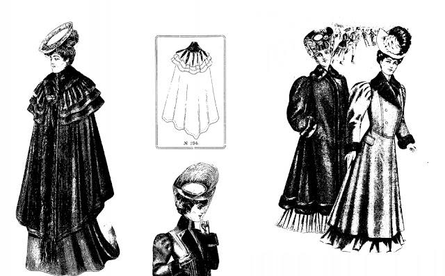 старинное женское пальто