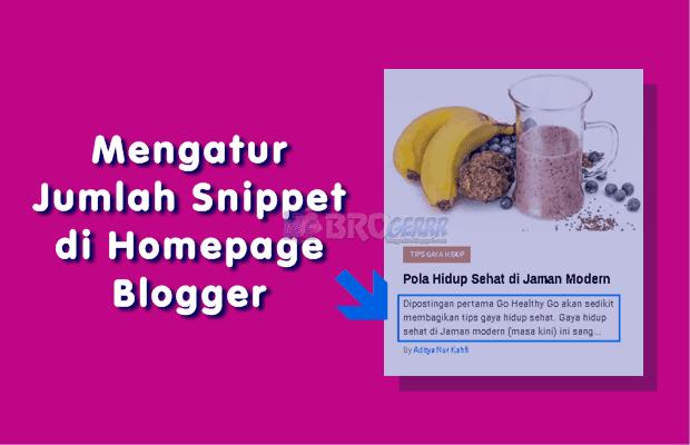 Cara Mengatur Jumlah Snippet di Homepage Blogger Agar Terlihat Rapi