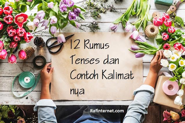 pict of 12 Rumus Tenses dan Contoh Kalimat nya