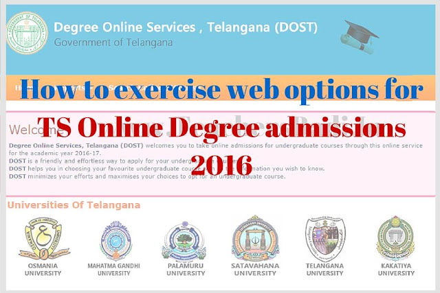 web options,TS Online Degree admissions,dost