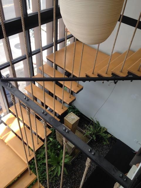 modern stairs at Bangkok Nikko, Cafe
