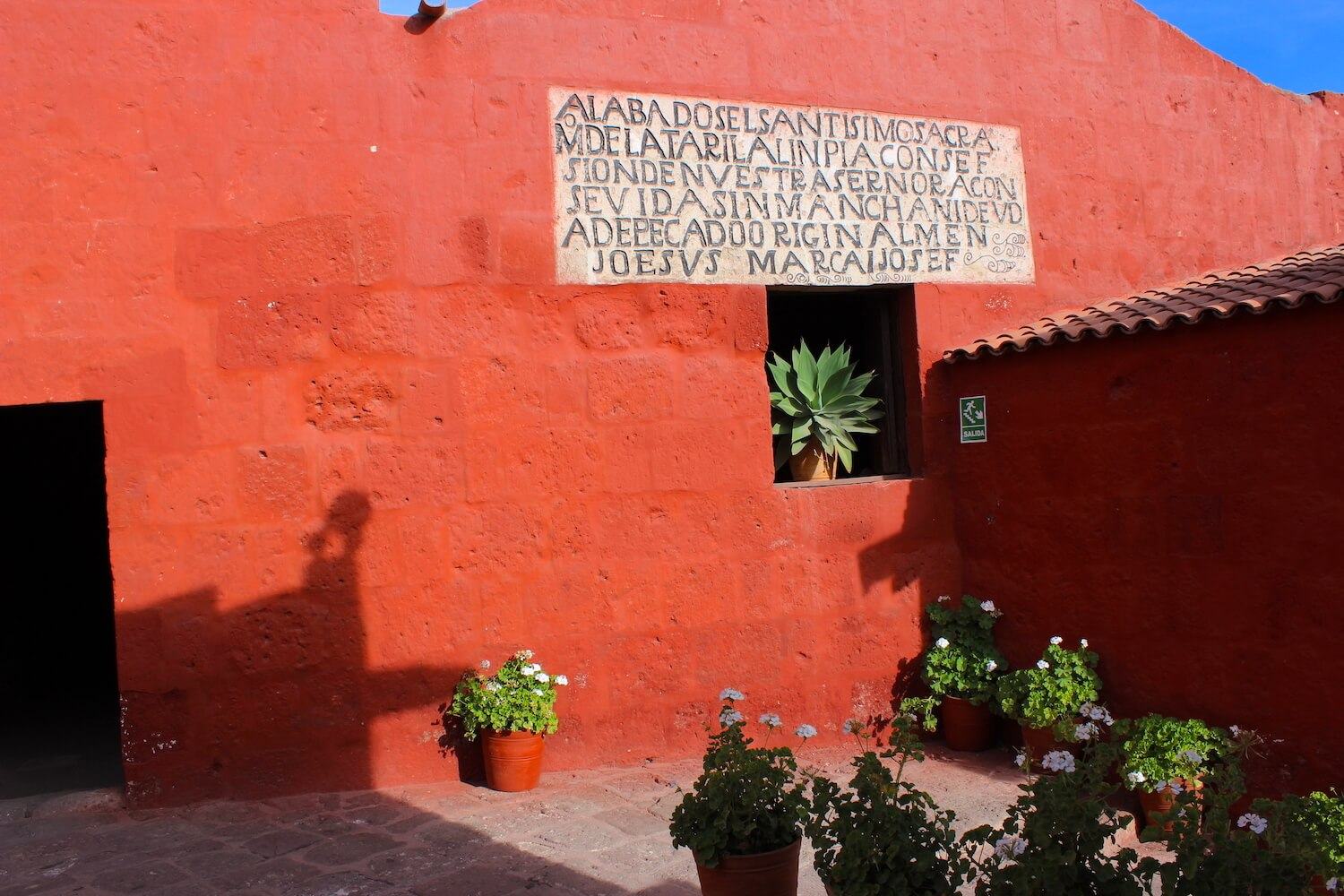monastery of santa catalina red wall