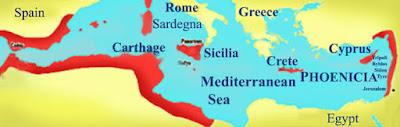 الموانئ ومناطق انتشار الحضارة الفينيقية