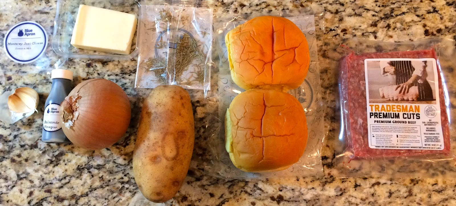 Blue apron qvc - Balsamic Glazed Onion Cheeseburgers With Roasted Potato Wedges