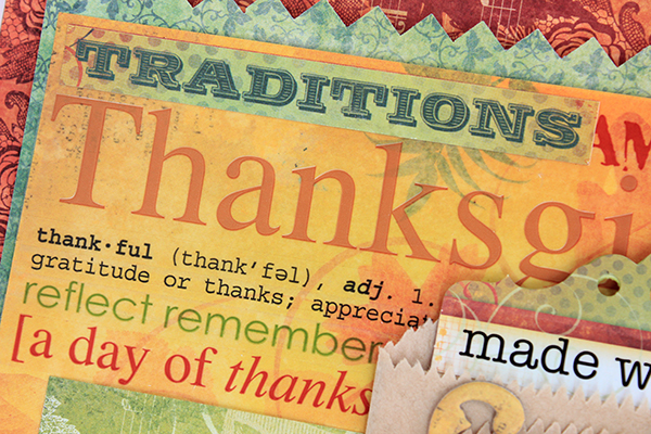 Made With Love Thanksgiving Layout by Juliana Michaels - detail