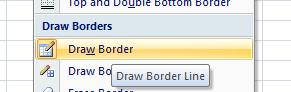 cara mengubah style border tertentu pada office excel