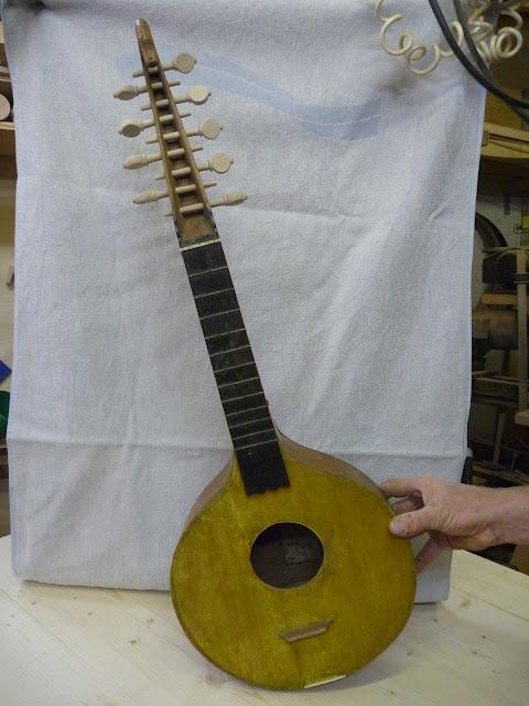 Wirbel nachmachen reparieren Laute antik drechseln