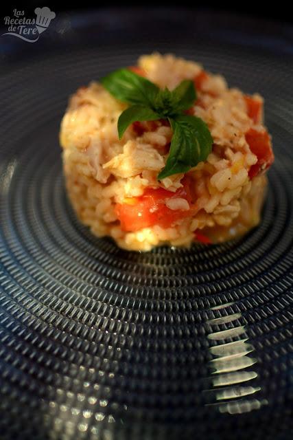 Risotto de pollo tomate y albahaca tererecetas 03