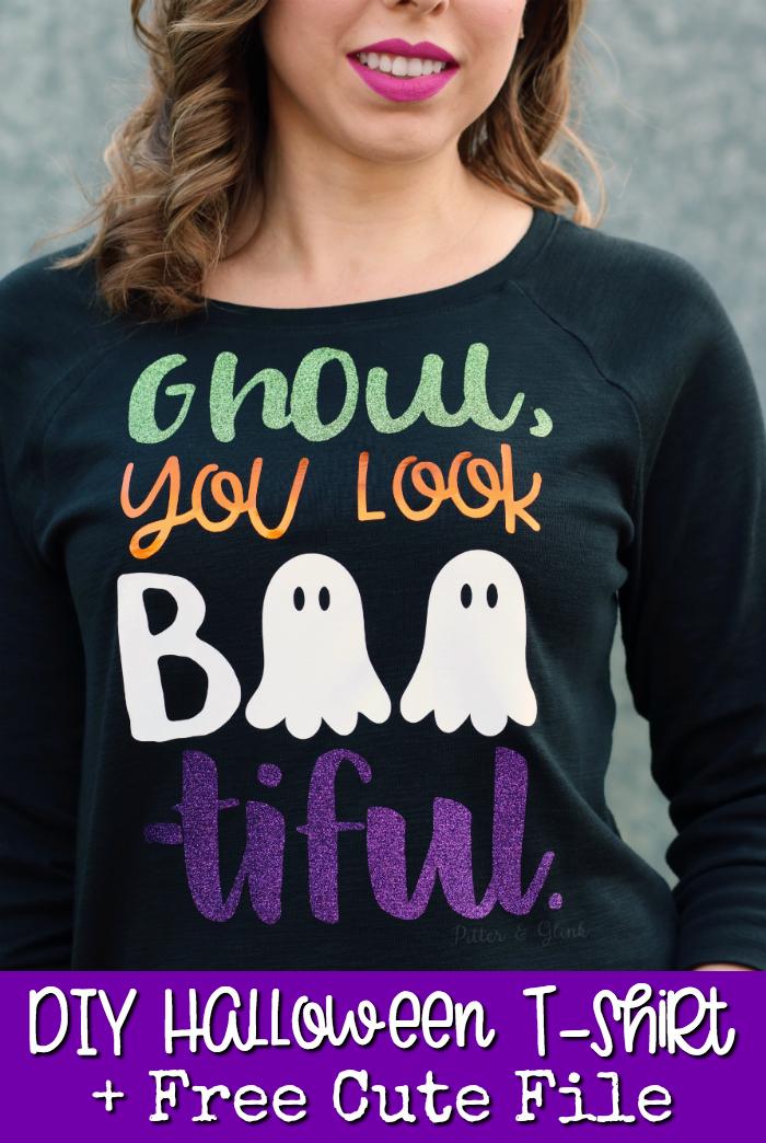 DIY Glamorous Halloween T-Shirt