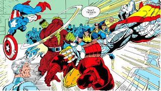 Hulk contra Coloso y el Capitán América