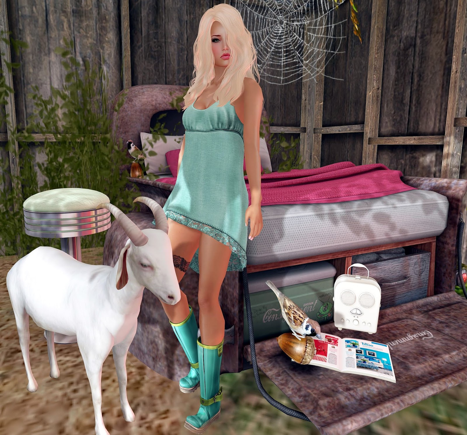 ᑭi᙭ᕮᒪ Styᒪᕮs Blond Barn Babe Inkie